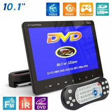 New! 10.1 inches Auto Car Rear Seat Mounted DVD Player Monitor MP4 MP5 Video DVD-9/VCD//USB/SD/HDMI/IR/FM/Game SH1018DVD
