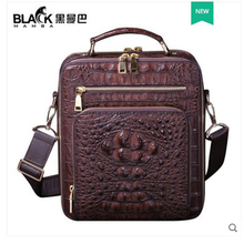 heimanba Crocodile leather shoulder bag Japanese handbag men cross-body small bag leather vertical handbag new style  men handba heimanba crocodile men handbag men small double zipper multi card youth luxury real leather thai crocodile handbag business bag