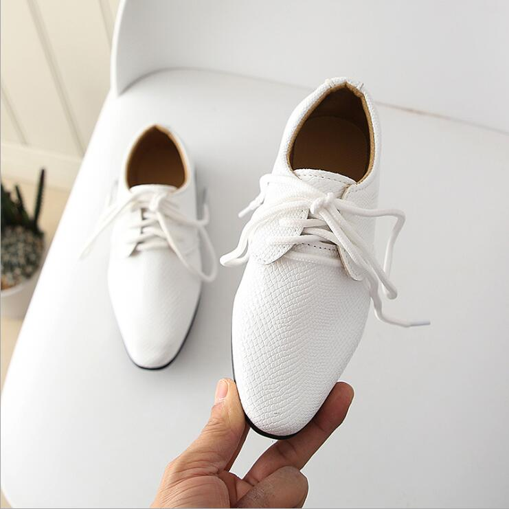 Spring Kids PU Leather Shoes Boys Loafers Size 21-36 Baby Toddler First Walkers Children Casual Flat Shoes