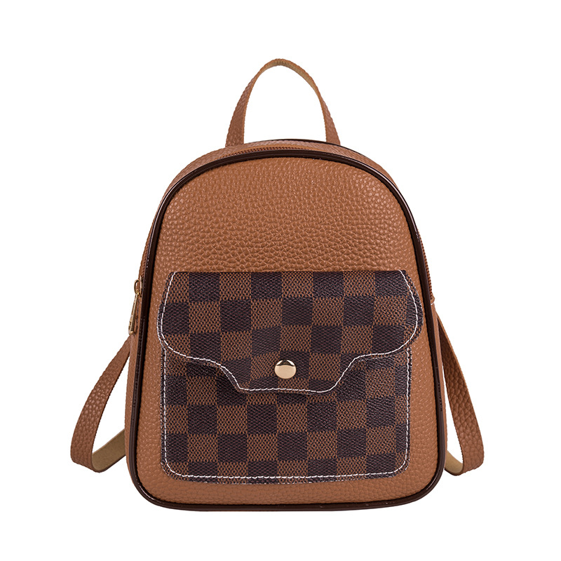 Vento Marea Mini Backpack Shoulder Bags For Teenage Girls 2020 Plaid Fashion Women Phone Purse Style New Trendy Female Bag Pack