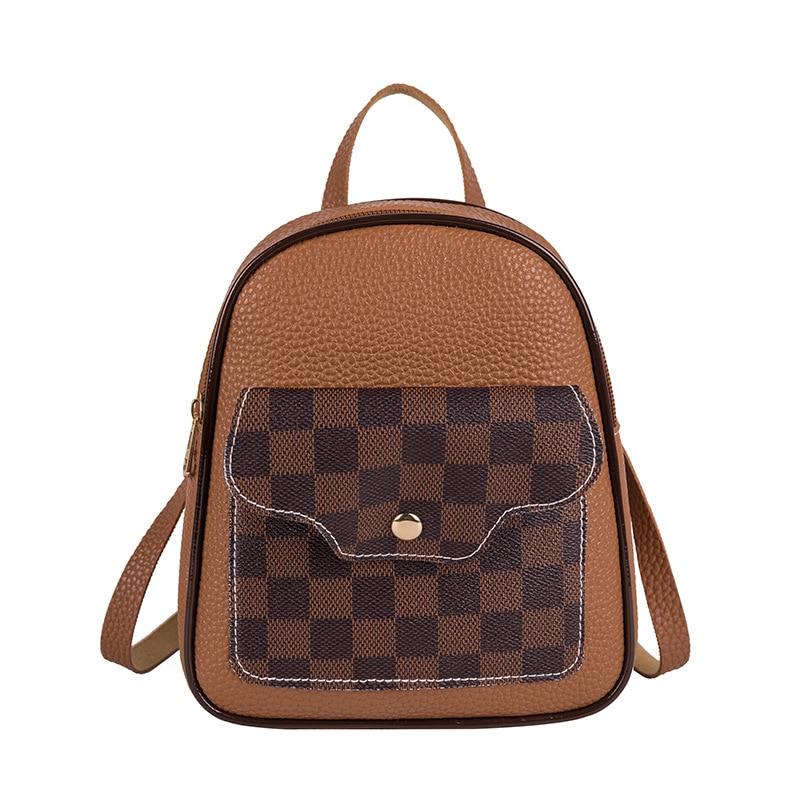 Vento Marea Mini Backpack Shoulder Bags For Teenage Girls 2020 Plaid Fashion Women Phone Purse Style New Trendy Female Bag Pack