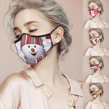 Świąteczna maska na przyjęcie drukuj Resue oddychająca wielofunkcyjna osłona na twarz bałwanek maska maska maski maski gazowe ochrona Маски tanie tanio CN (pochodzenie) Poliester Quick-drying breathable mask Comfortable and Soft mask Windproof and warm mask Sandproof and windproof mask