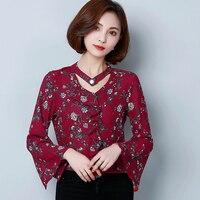J44823 Fashion Colors Summer V Neck OL Workwear Chiffon Shirt