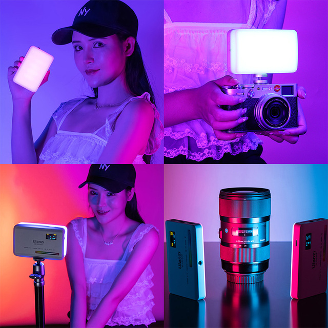 Vijim vl196 / vl120 2500k-9000k rgb led video light dimmable fill light with diffuser 3000mah photography studio camera light