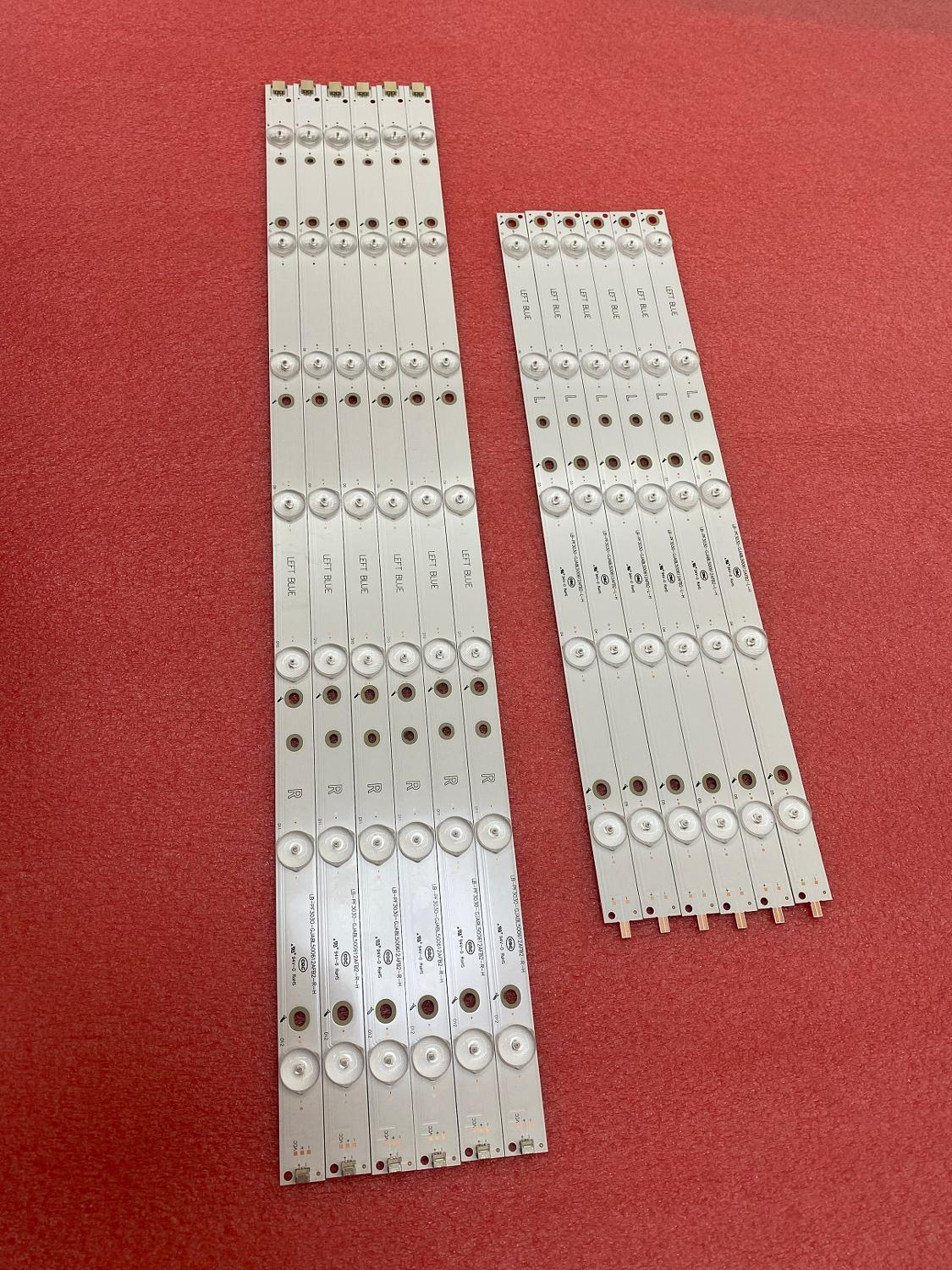 New 5set=60 PCS LED Backlight Strip For 50inch 500TT67 V2 500TT68 V2 CL-2K15-D2P5-500-D612-V1 R L