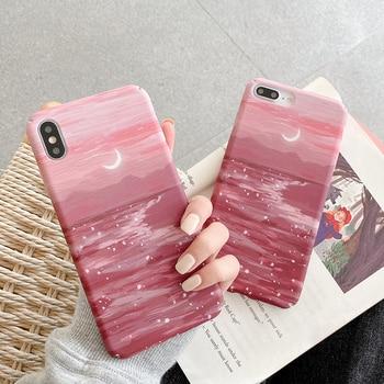 Перейти на Алиэкспресс и купить Жесткие чехлы для телефонов Redmi K20 K30 Note7 8Pro seaside Moonligh, чехлы для Xiaomi 6X 8 8lite 8se 9 9se 10 A2 A3 Lite