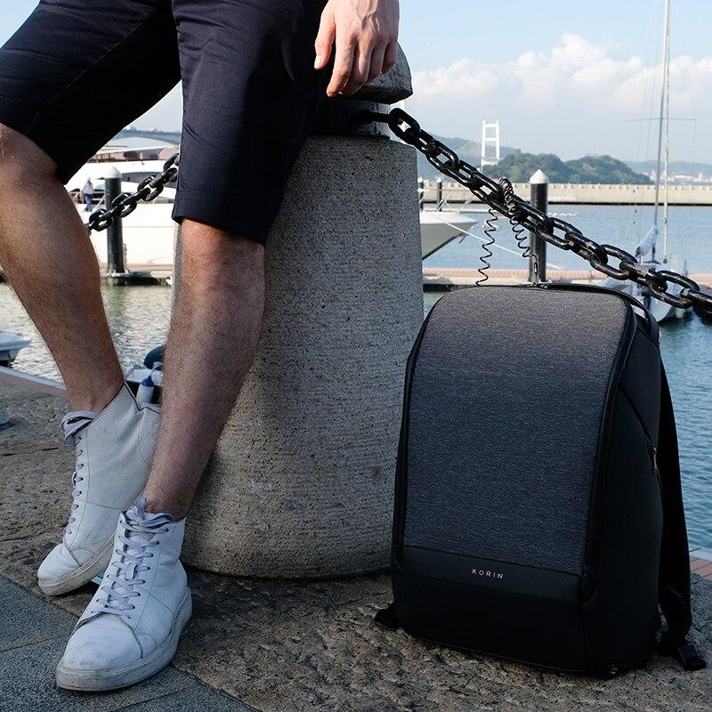 Рюкзак для мужчин модный рюкзак для ноутбука Оксфорд зарядка через USB Противоугонный водонепроницаемый дорожный рюкзак для мужчин и женщин... - 2