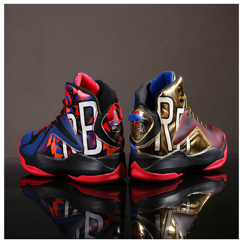Air buffer Basketball Shoes Men High Top Gym Training Boots Ankle Boots Outdoor Flat Shoes Lace Up Men Shoes Breathable Sneakers|Basketball Shoes| |  - title=