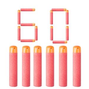 60Pcs Bullets for Nerf 9.5cm Red Sniper Rifle Darts Bullets Foam Refill Darts Big Hole Head Bullets for N-Strike Series