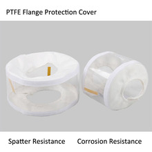 PTFE/PVC Transparent Safety Spray Shields Flange Guards with PH test  Protective Cover sleeve