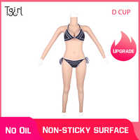 Upgraded Version Silicone Body Suits D Cup With Vaginal Tube and Catheter For Transgender Crossdressers Dragqueen