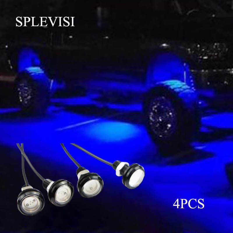 8pcs Blue Waterproof LED Rock Light For Off Road Truck Car ATV SUV Under Wheel