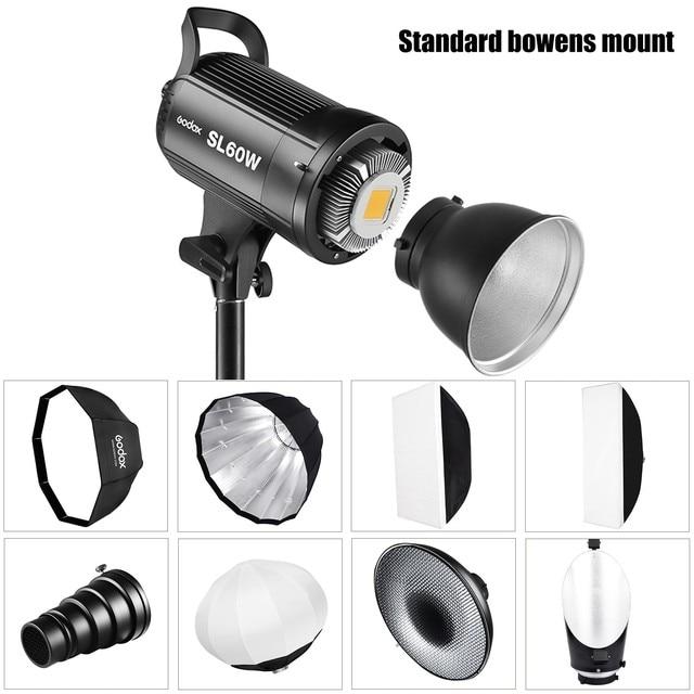 Godox SL-60W LED Video Light SL60W 5600K White Version Video Light Continuous Light Bowens Mount for Studio Video Recording 1