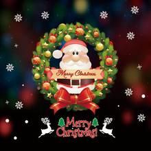 Санта Клаус стикеры Рождеством Рождественская елка наклейки
