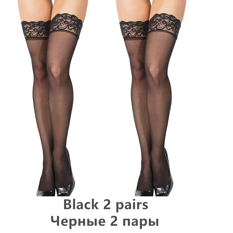 H07667626164d48efb7ec75e4a2510b39U - Thigh High Stocking Women Summer Over knee Socks Sexy girl Female Hosiery Nylon Lace Style Stay Up Stockings Plus Size