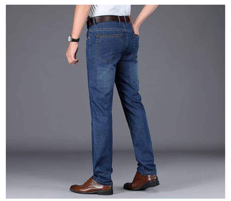 JS698J-Spring And Summer Jeans Men's Loose Straight Tube Men's Pants Business Pants