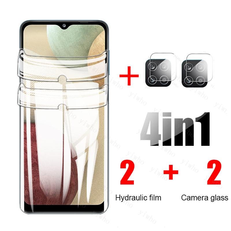 Гидрогелевая пленка 4 в 1 для Samsung Galaxy A12 2020, Защитная пленка для samsun a 12 A125F 6,5 дюйма, Защитная пленка для экрана, не стекло