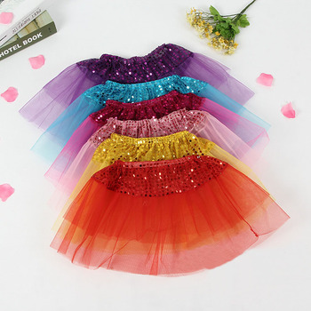Girls Three-layer Mesh Skirt Short Tutu Kids Dance Ballet Toddler Baby Costume Europea America Style Lace Girls dress