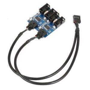 Image 5 - XT XINTE 9pin USB Đầu Nam 1 Đến 2/4 Nữ Dây Nối Dài Thẻ Để Bàn 9 Pin Hub Chia Cổng USB 2.0 9 Pin Kết Nối Cổng Số Nhân