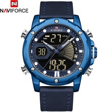 NAVIFORCE Leather Stap Men Watches Fashion Bussiness Quartz Watch Mens Military Chronograph Wristwatch Clock Relogio Masculino naviforce brand men watch fashion casual sport watches men waterproof leather quartz watch man military clock relogio masculino
