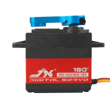 JX PDI-6221MG 20KG High voltage 4.8V-6.0V Large Torque Digital Coreless Servo metal shell For rc hsp Helicopter car Robot  boat