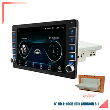 Touch-Screen Knob-Button Mirror 1DIN Car-Stereo Android Link Radio Gps Adjustable-Up-And-Down