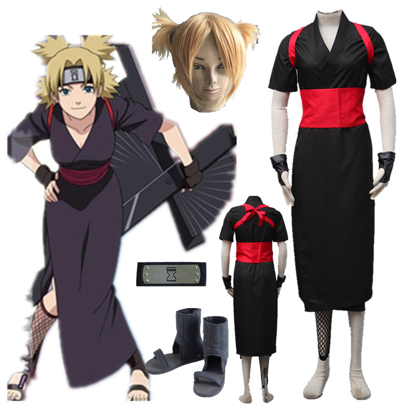 Anime Naruto Temari Cosplay The Kimono  Halloween Cosplay Costume Halloween