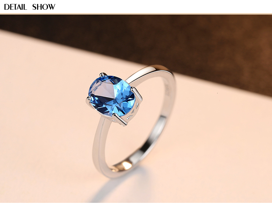 H07677037cdd64c8eab1e005b43e01695X CZCITY Natural Solitaire Sky Blue Oval Topaz Stone Sterling Silver Ring For Women Fashion S925 Fine Jewelry Finger Band Rings