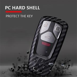 Image 4 - Carbon faser + PC Schlüssel Abdeckung Fall Für Audi A4 A5 S4 S5 B9 8W Q7 4M Q5 TT TTS RS Coupe Roadster 2017 2018 Smart Remote Shell
