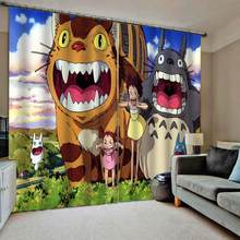 3D Sheer Curtains The Bedroom Living Room Window Curtain Modern cartoon people Decor Kids Room Curtains Drapes(China)