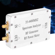 Analisador de espectro 35-4400mhz com medidor alimentação de fonte varredura de liga de alumínio com uma interface usb alta qualidade
