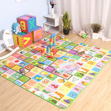 Baby Play Mat 0.5cm Thick Crawling Mat Double Surface Baby Carpet Rug Animal Car+Dinosaur Developing Mat for Children Game Pad(China)
