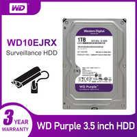 WD New Purple 1TB Surveillance Internal Hard Drive Disk Cache 3.5 Inch 64M Cache SATA III 6Gb/s HDD HD Harddisk for CCTV DVR NVR