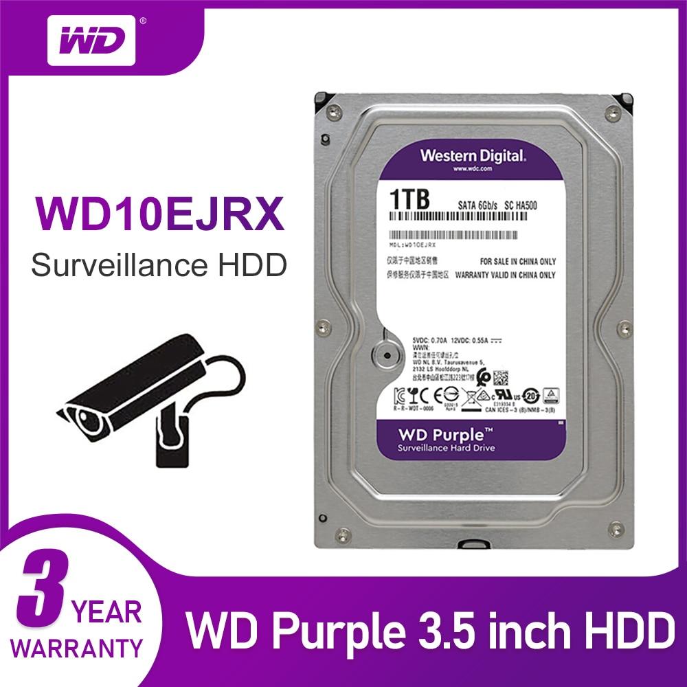 WD nouveau violet 1 to Surveillance disque dur interne Cache 3.5 pouces 64M Cache SATA III 6 Gb/s HDD HD disque dur pour CCTV DVR NVR