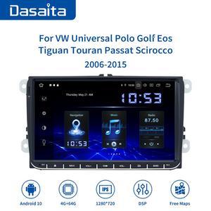 "Image 2 - Dasaita 9"" IPS Screen 1 Din Car Radio Android 10 Carplay for VW GPS Polo Golf Eos Tiguan Seat leon Passat Car Stereo TDA7850"