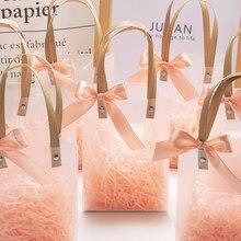 Матовый свадебный подарок компаньон ручной подарок возвращение подарок упаковочный пакет для конфет сумка коробка для подарка ювелирных и...