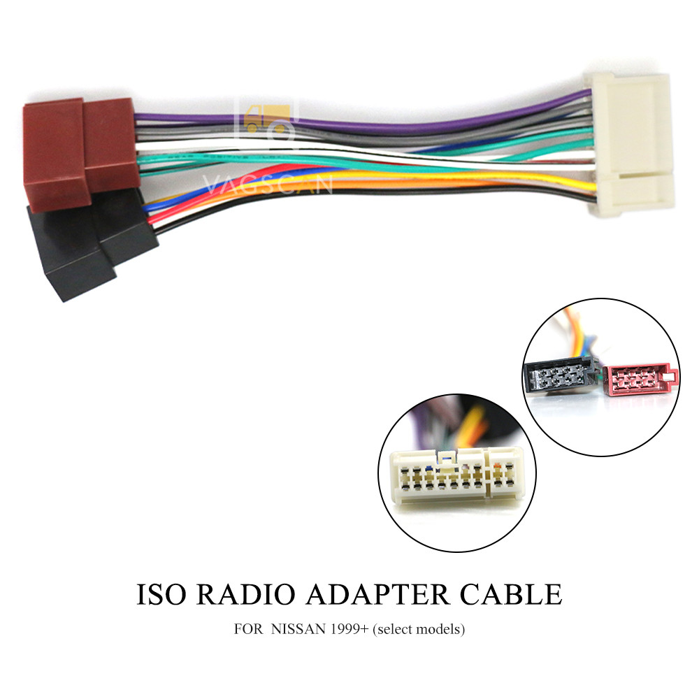 Autostereo ISO standard HARNESS Radio Adapter Connector FOR NISSAN 1999 select models Autostereo TECH ISO Radio Cable Wire Harness Plug for NISSAN 1999+