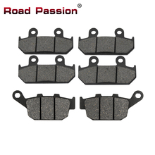 Road Passion Motorcycle Front and Rear Brake Pads for HONDA VFR 400 VFR400 NC24 1987 1988 XRV750 XRV 750 L / M / N Africa Twin