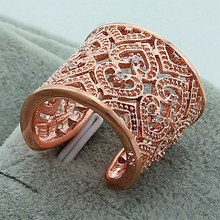 Hot Sale Silver Plated Ring Fine Fashion Big Net Weaving 925 Jewelry Rose Gold Col Women&Men Gift Finger Rings