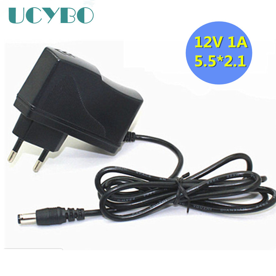Power Adaptor Power Supply Charger Converter AC 100-240V AC/DC 12V 1A 5.5mm X 2.1mm For CCTV Security Camera System