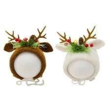 Hat Photography-Props-Cap Shooting-Accessories Newborn Infants Baby Cotton Deer Soft