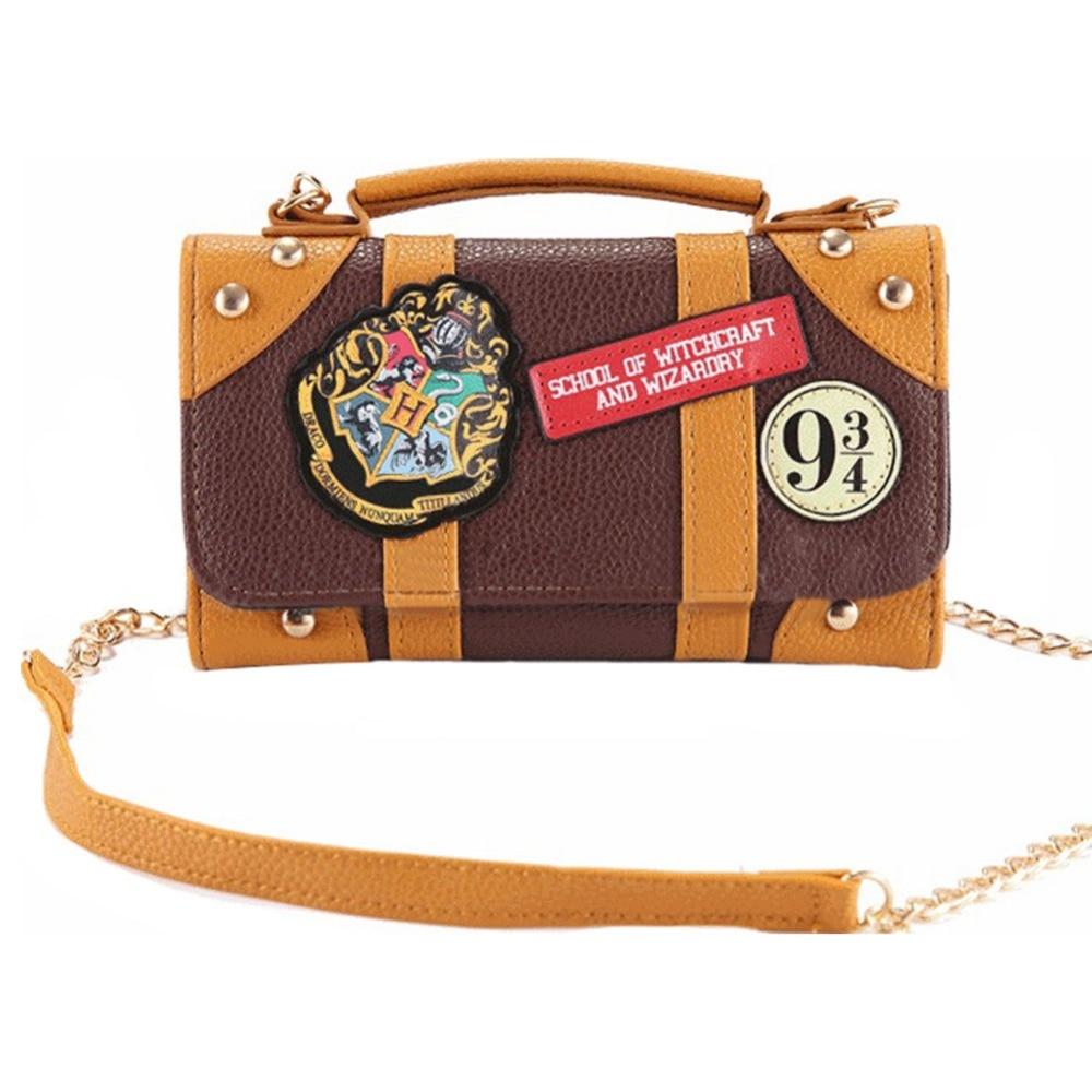 Harri Potter Hogwarts Handbag PU Mini Shoulder Bag Christmas Wallet Clutch Purse Xmas Gift Costume Cosplay Prop