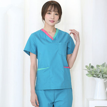 New Korean version of dental operating room hand-washing length short-sleeved women doctors brush hand suit surgical