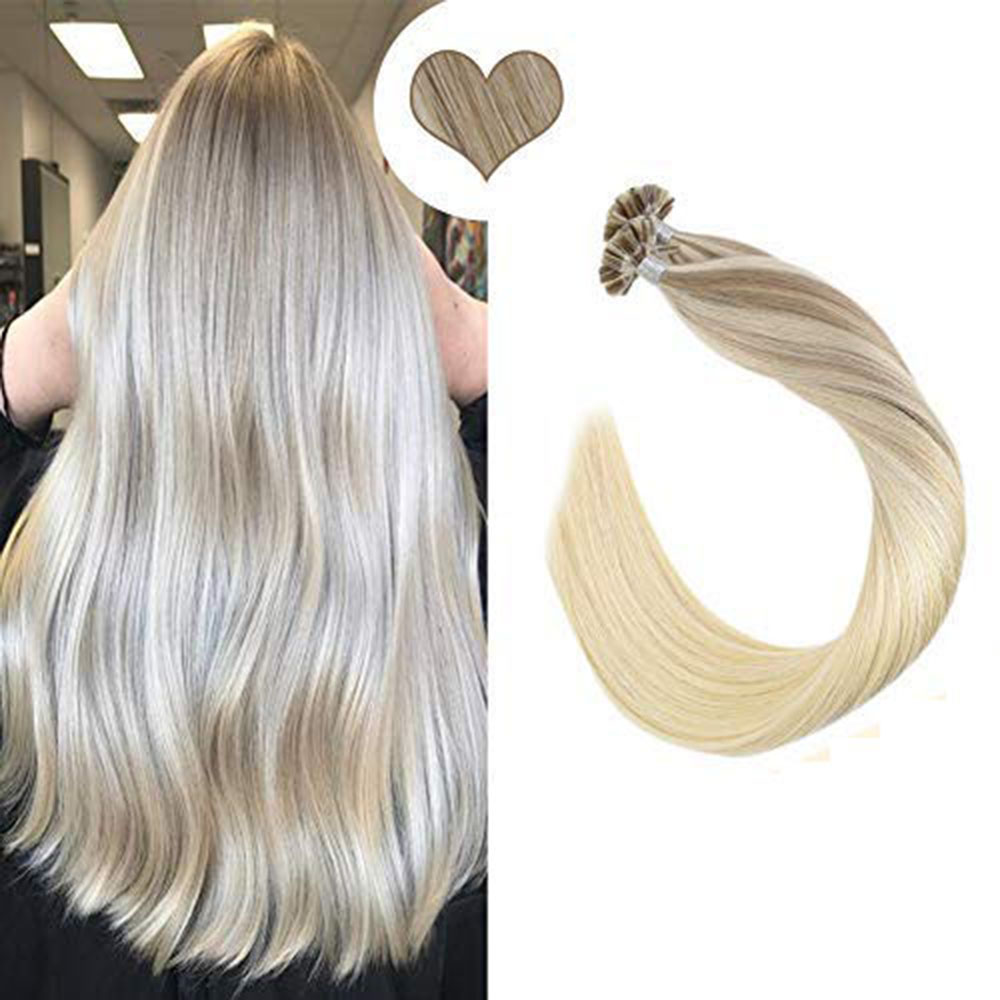 Ugeat U Tip Nail Hair Extension Machine Remy Hair 14-24inch Natural Straight Real Human Hair Pre-bonded Hair Extensions 50g/100g