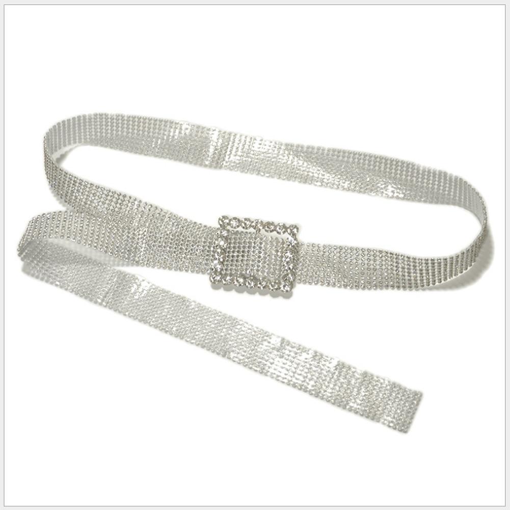 Meihuida Women Fashion Shiny Belt Waist Chain Crystal Diamond Alloy Waistband Full Rhinestone Luxury Wide Party Belt 6