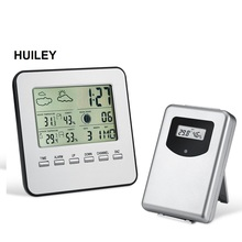 Wireless LCD Digital Thermometer Hygrometer Indoor Outdoor Weather Station Temperature Humidity Meter Alarm Clock Forecast wireless digital weather station latest new white remote multifunction weather forecast clock temperature humidity meter