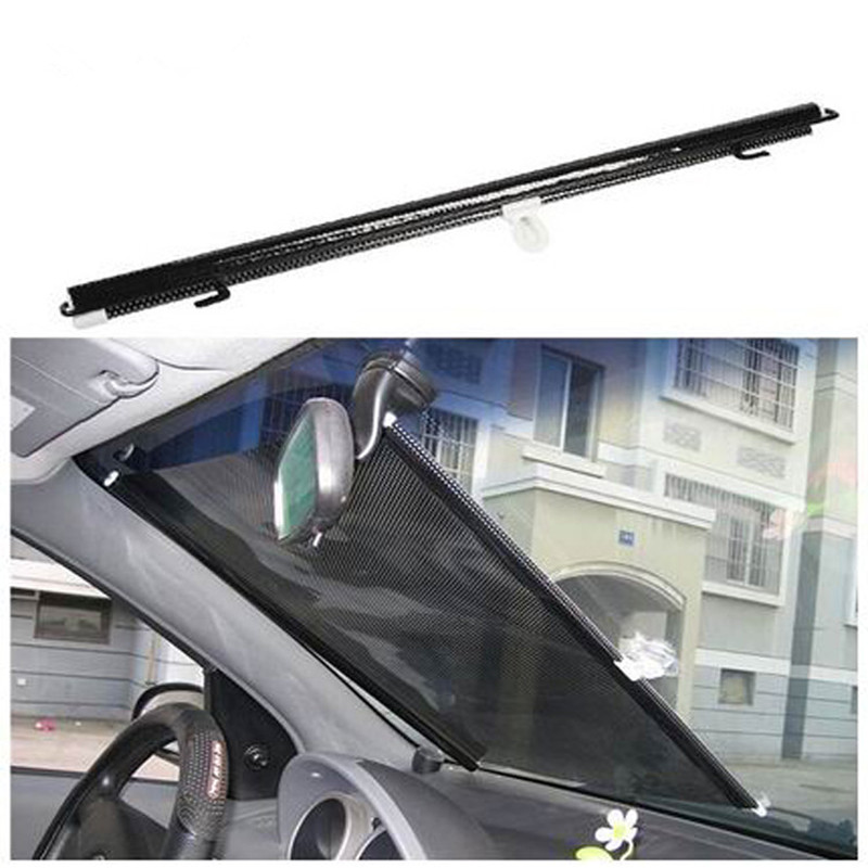 50 58x125cm Foldable Former Block Retractable Protector Car Auto Curtain Rear Side Window Screen Mesh Roller Shield Sun Shade