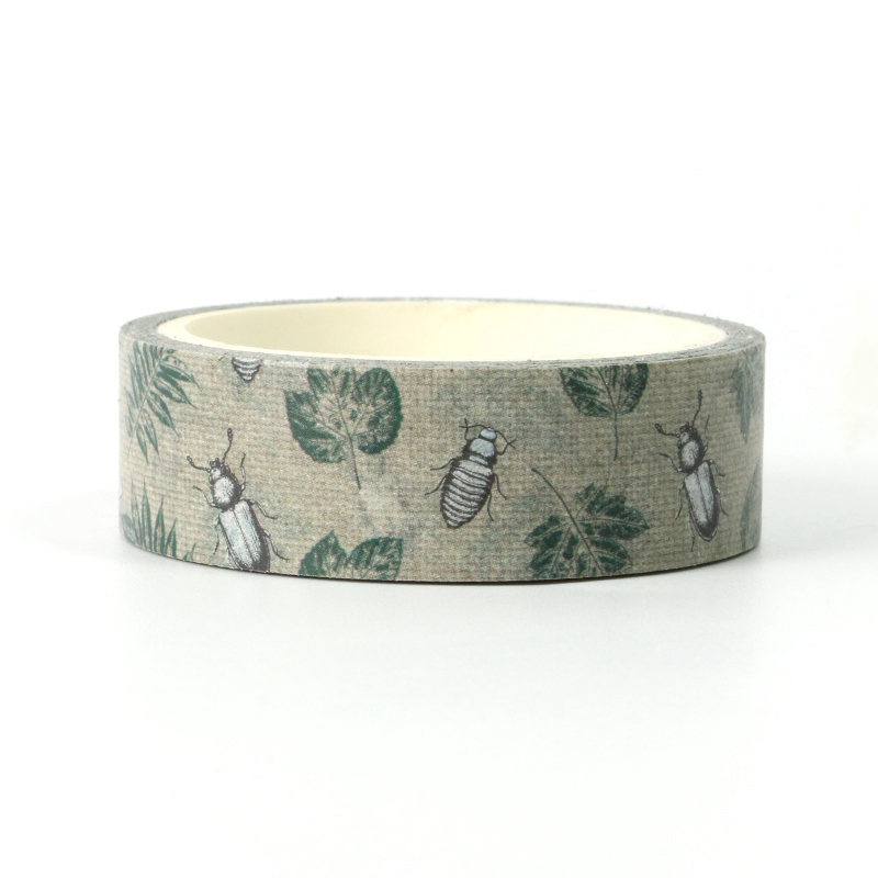 NEW 1X Cute Retro Nature Insect Washi Tape For DIY Planner Scrapbooking Decorative Masking Tape School Office Supplies