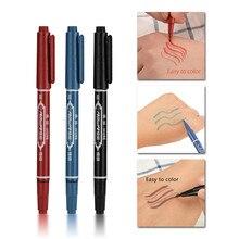 3 PCS Tattoo Supplies Tattoo Marker Pen Skin Marker Pen Scribe Tool permanent  Ink Thin Nib Crude Nib