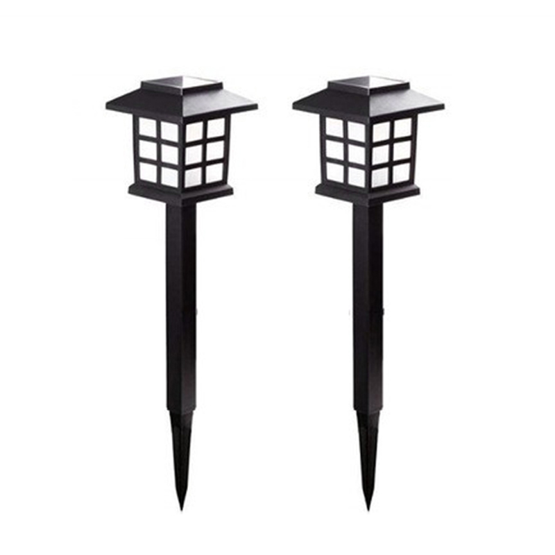 2Pcs Led Solar Pathway Lights Waterproof Outdoor Landscape Lamps For Garden Path Yard Patio Driveway Walkway White
